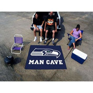 """Seattle Seahawks NFL Man Cave Tailgater"""" Floor Mat (60in x 72in)"""""""