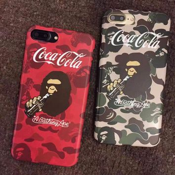 Supreme bape camouflage shockproof New 2014 case cover skin for iPhone