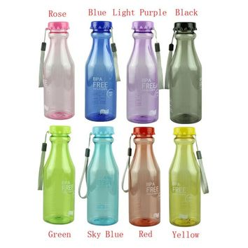 550ml BPA Free Cycling Bicycle Bike Sports Unbreakable Plastic Water Bottle Cycling Sports Bottles 550ML #2s11