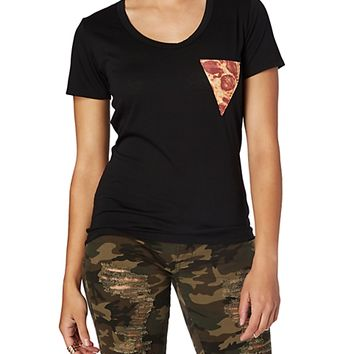High Low Pizza Slice Pocket Tee