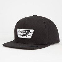 Vans Full Patch Boys Snapback Hat Black One Size For Women 27542010001