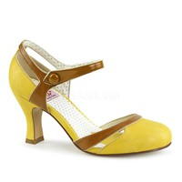 Pinup Couture Flapper Yellow d'Orsay Pump