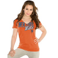 Touch by Alyssa Milano New York Mets Ladies Slim Fit Start Up T-Shirt - Orange