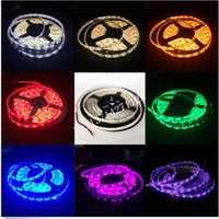 5m lot Waterproof LED Strip DC12V 2835 60LEDs m Flexible LED Light RGB Blue Green Red White Warm White Yellow Free shipping