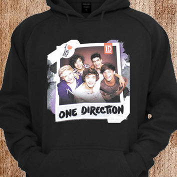 One-Direction Black Logo Hoodie For Unisex Size Hoodie