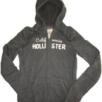 Women's / Girl's Hollister Hooded Sweat Jacket Hoodie Boomer Beach Grey Size Small