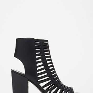 Caged Peep Toe Sandals