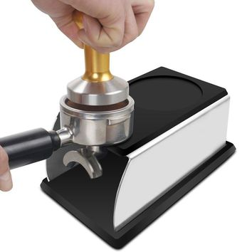 Realand Sturdy Stainless Steel Silicone Espresso Coffee Tamper Stand Barista Tool Tamping Holder Rack Shelf Coffee Machine Tool