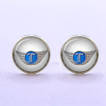 Thor Hat Wings  Cufflinks  -Mens Silver Plated Cufflinks,Accessoires for Man-Mens Gift ,Gift for Daddy ,Best Man