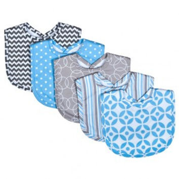 Trend Lab Logan 5 Pack Bib Set