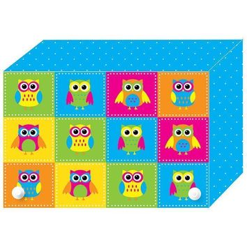 COLOR OWLS INDEX CARD BOXES 3X5IN