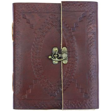 Brown Leather Journal w/Clasp