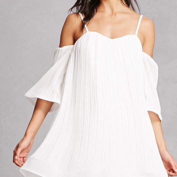 Open-Shoulder Swing Dress