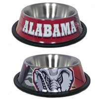 Alabama Crimson Tide Stainless Dog Bowl