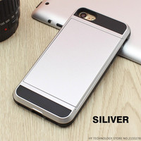Silver Wallet Phone Case For iPhone 7 7Plus 6 6s Plus 5 5s SE