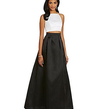 Xscape Satin 2-Piece Gown | Dillards.com