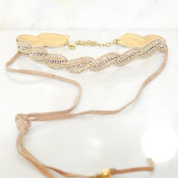 Diamond Re-Leaf Choker Gold