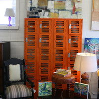 $500.00 Vintage Orange High School Lockers by MPGhomedesign on Etsy