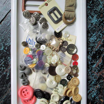 Buttons Destash large lot grab bag buttons lot button mix stash leather buckle sewing supply notions basket box kit gift sewer crafter