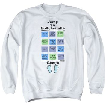 Office Space - Jump To Conclusions Adult Crewneck Sweatshirt Officially Licensed Apparel