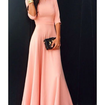 Hot Sale Winter Long Sleeve Prom Dress [6514268167]