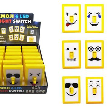 Emoji 6 Led Night light Switch - CASE OF 18
