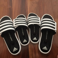 """Adidas"" Superstar 3G Velcro Black and White Sandals"