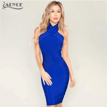 2016 new Luxury backless Khaki blue black red women   celebrity elegant bodycon sexy cute party bandage dress