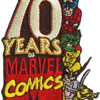 70 Years of Marvel Comics Embroidered Iron On Applique Patch