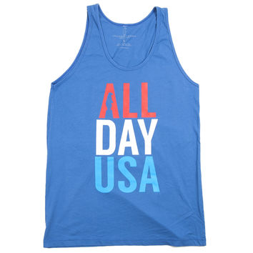 All Day USA Tank Top Blue