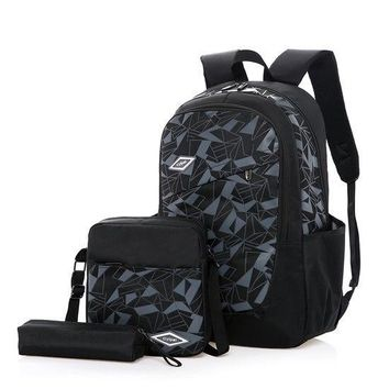 University College Backpack 2018 New Student  s Multifunction Diamond Lattice 3 Sets School  Bag For Boy Girls Male Travel MochilaAT_63_4
