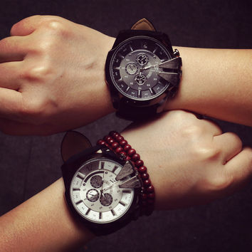 Comfortable Vintage Fashion Quartz Classic Watch Round Ladies Women Men wristwatch On Sales = 4662273668