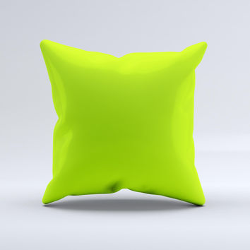 Solid Green V3  Ink-Fuzed Decorative Throw Pillow