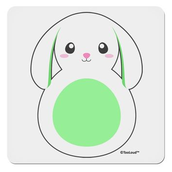 """Cute Bunny with Floppy Ears - Green 4x4"""" Square Sticker by TooLoud"""