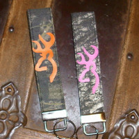 Browning Inspired Key Fob/Key Chain  Mossy Oak/Camo Personalized