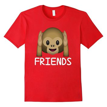 Best Friends Forever Hear No Evil Monkey Emoji T-shirt.