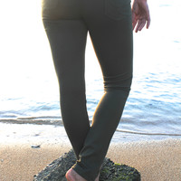 Super Soft Jeggings in Olive - Last Chance Item