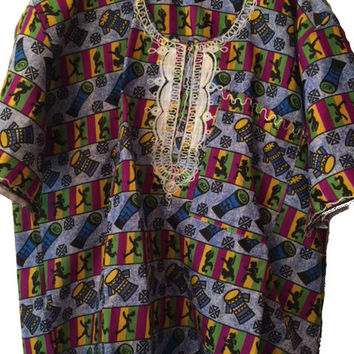 Custom Drum Print African Dashiki