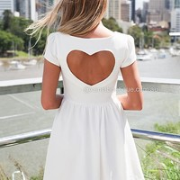 CAP SLEEVE HEART CUT OUT DRESS  , DRESSES, TOPS, BOTTOMS, JACKETS & JUMPERS, ACCESSORIES, SALE, PRE ORDER, Australia, Queensland, Brisbane