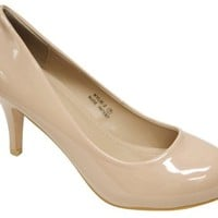 Bella Marie Kylie-2 Women's round toe high heel stiletto patent shoes