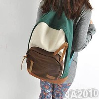 Sweet Colors Women Lady New Canvas School Campus Bookbag Backpack Shoulder Bag