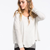 Mimi Chica Color Block Womens Sweatshirt Oatmeal  In Sizes