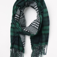 LA Hearts Plaid Houndstooth Reversible Scarf at PacSun.com