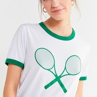 Truly Madly Deeply Tennis Ringer Tee | Urban Outfitters