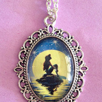 Little Mermaid Inspired Cameo Necklace