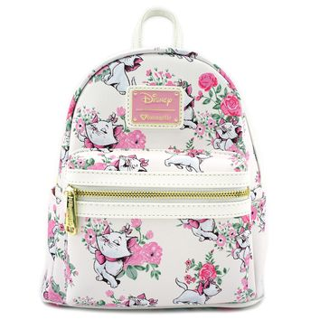 Loungefly x Marie Floral Mini Faux Leather Backpack - Disney - Brands