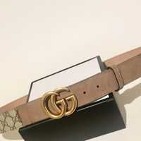 New Authentic Gucci 2018 brown Gucci women/men Gucci belt