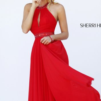 Beaded Open Back Gown by Sherri Hill