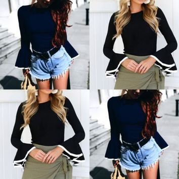New Fashion Women Clothing Ladies Blouse Top Long Sleeve Cotton Shirt Casual Office Tops Lady Clothes