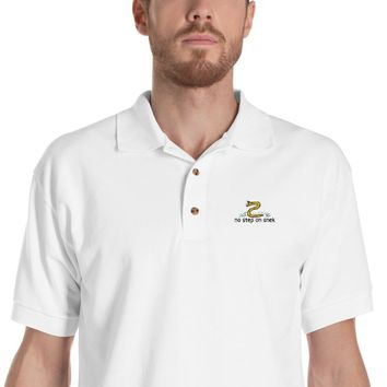 No Step On Snek Embroidered Polo Shirt